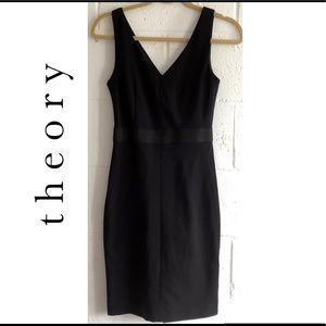 Theory Alcoa Black Stretch Jersey Dress